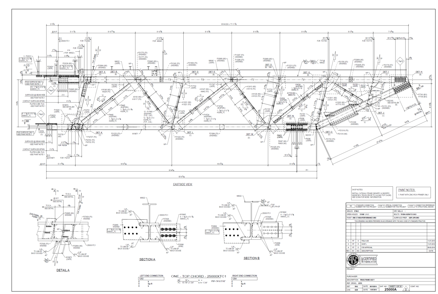TEKLA Steel Detailing Firm - 3D Construction and Shop Drawings